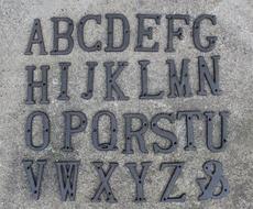 格嘉睿尔欧式铸铁26个英文字母 铁艺立体复古装饰庭院家居壁饰