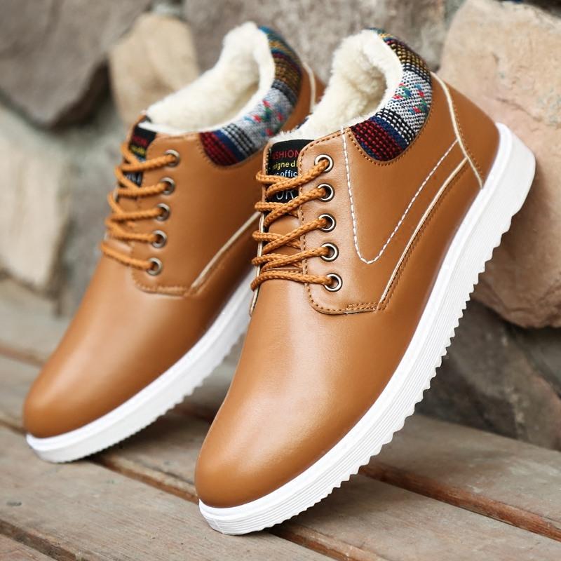 冬季男鞋加绒棉鞋男士雪地靴韩版潮流休闲板鞋冬天防水保暖工作鞋