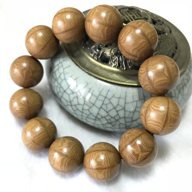[¥30.25]五台山六道木降龙木手串佛珠木质手持念珠原木珠2.0辟邪转运手珠