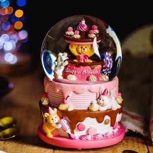 JARLL赞尔水晶球音乐盒生日礼物送女生闺蜜老婆孩子儿童惊喜旋转