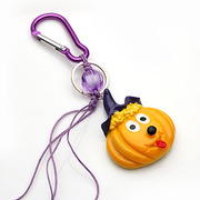 Smiling sash super cute pumpkin bag key chain personalized fashion key ring pendant