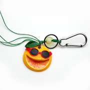 Smiling creative oranges hung super cute Keychain accessories ornaments hanging pendant key rings