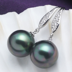 Korean wild natural mother-of-pearl pearl earrings 925 sterling silver earrings