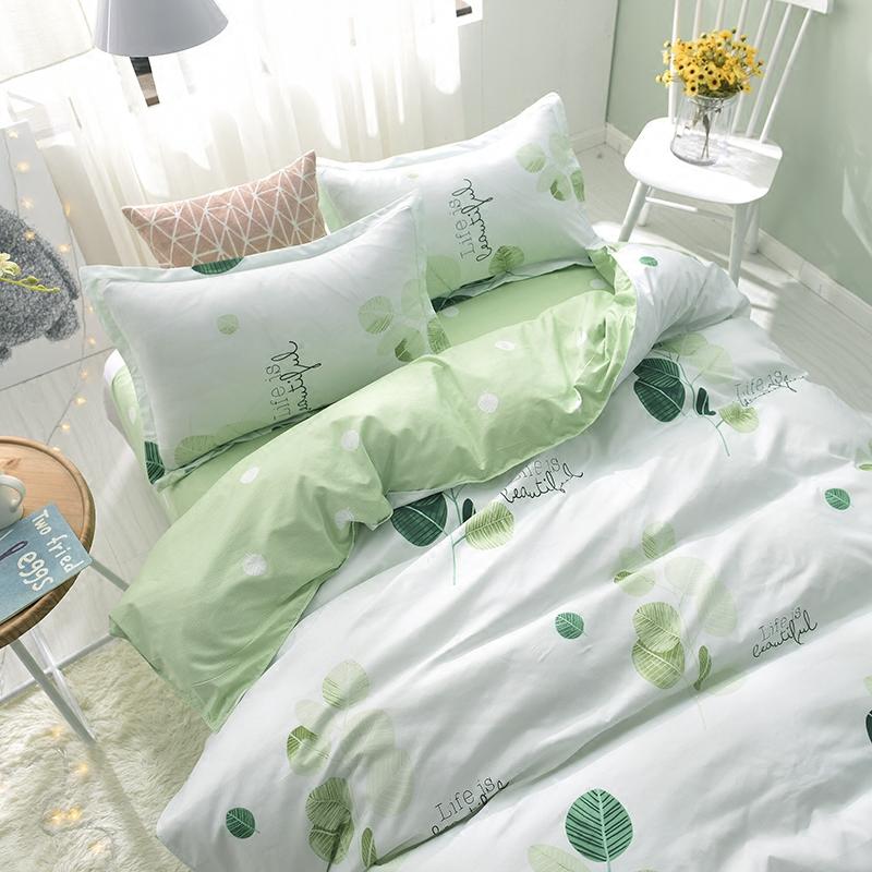 学生宿舍三件套单人床单被套1.8m床可爱1.5米床上用品被子四件套-天天好超值
