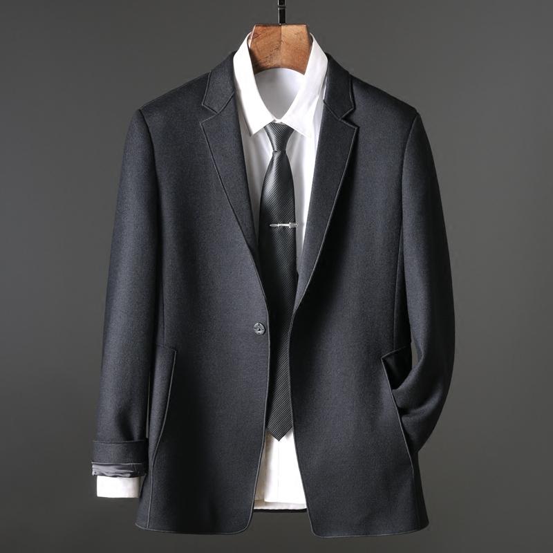 2018秋季高端男装 时尚绅士羊毛西服 男士商务休闲西装外套单西男