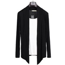 夏季男士长袖T恤韩款修身假两件开衫7k14纯棉体k8底衫外套