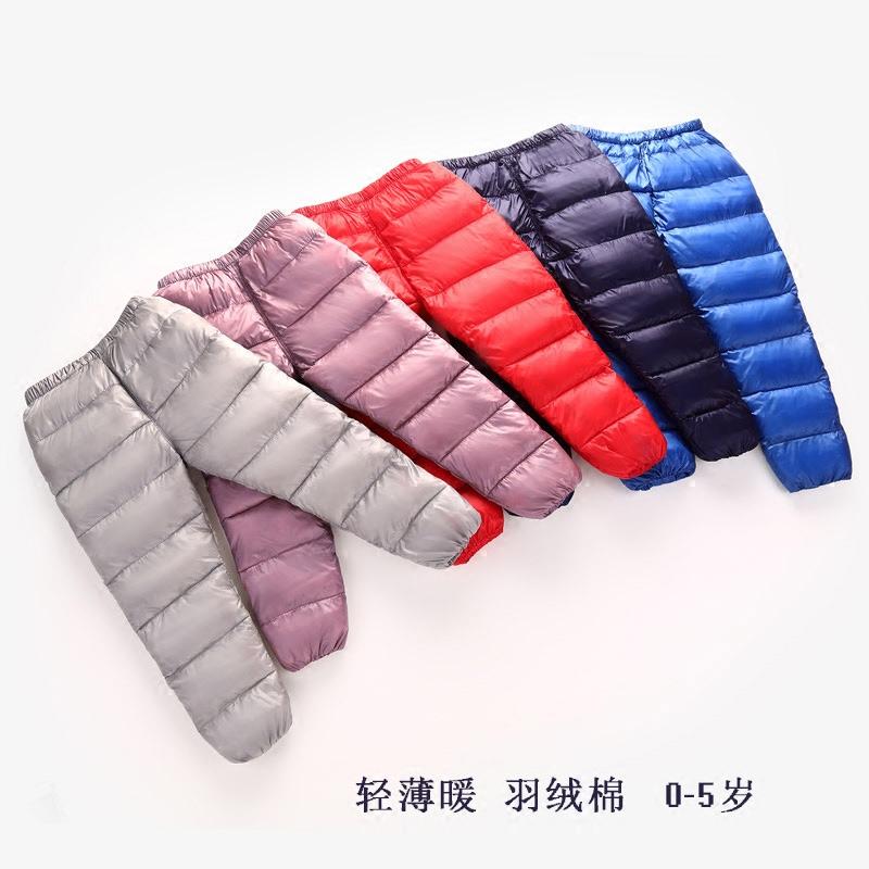 清仓特价儿童羽绒棉裤男童女童保暖冬装裤子婴儿宝宝可开档外穿