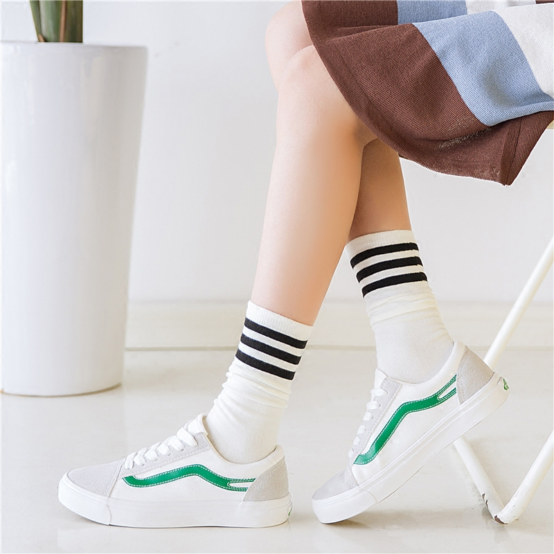 堆堆袜女夏薄日系学院风春秋季条
