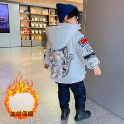 儿童装男童棉衣秋冬季2021年新款加绒加厚外套保暖棉服洋气冬装潮