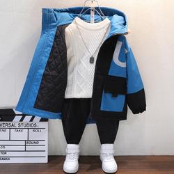 男童加厚秋冬外套2021新款洋气男孩夹棉上衣中大童冬季儿童棉衣潮
