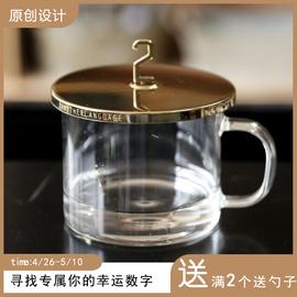 原创设计黄铜杯盖复古作旧金属盖通用马克杯奶茶食用保温圆形盖子