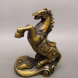铜马摆件黄铜生肖马招财马到成功工艺品家居客厅风水装饰马踏飞燕