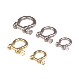 304不锈钢黄铜日欧式马蹄扣咔叽汽车钥匙扣DIY箱包皮手链财布配件