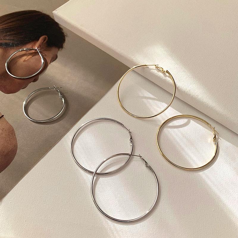 耳环女夏2020年新款潮大圈圈圆形耳圈2021欧美气质高级感网红耳饰