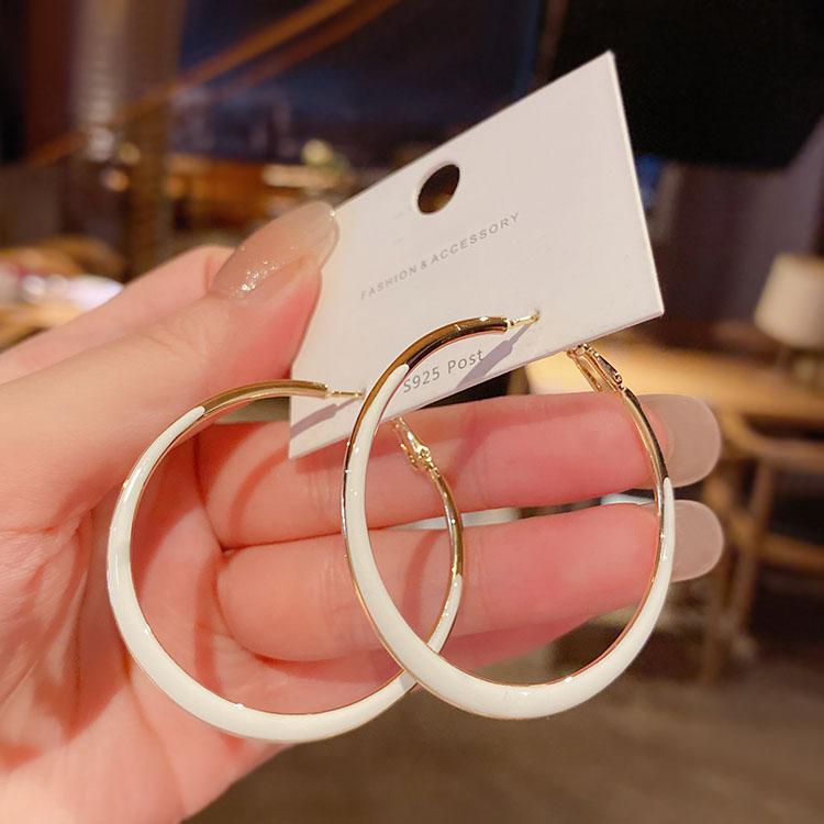2021年新款潮网红流行大圆环耳环耳圈女高级感法式气质圆圈圈耳坠