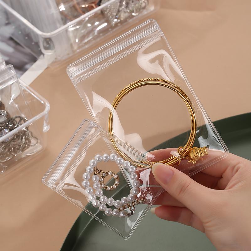 防氧化首饰盒耳环耳钉项链收纳盒戒指饰品首饰耳饰收纳大容量透明