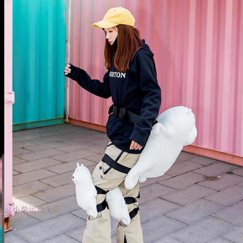 比赛滑雪滑冰轮滑护臀垫外穿滑板舒适卡通膝关节雪地学生专业可爱