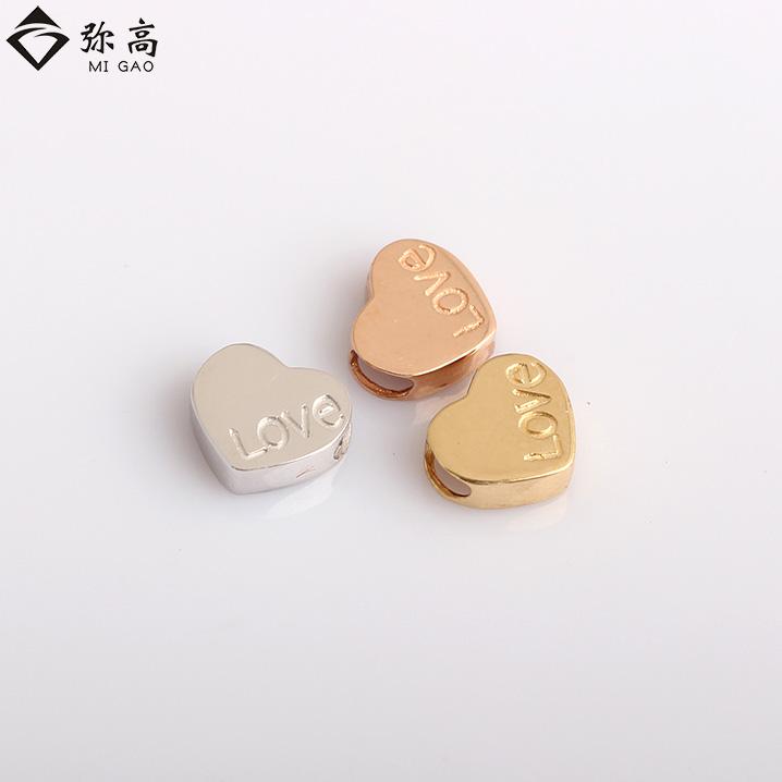 弥高珠宝18K金白金黄金玫瑰金心型love吊坠品牌正品新款特价直销