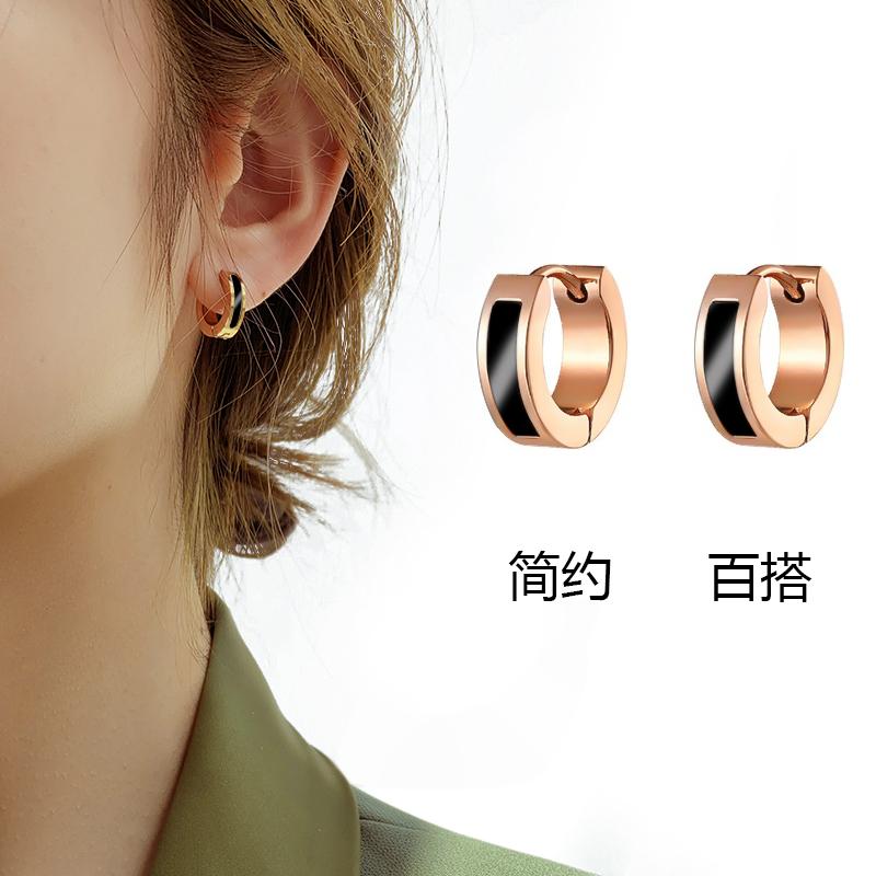 简约钛钢耳环耳扣韩国时尚百搭耳钉简约小巧气质耳饰2020新款潮女