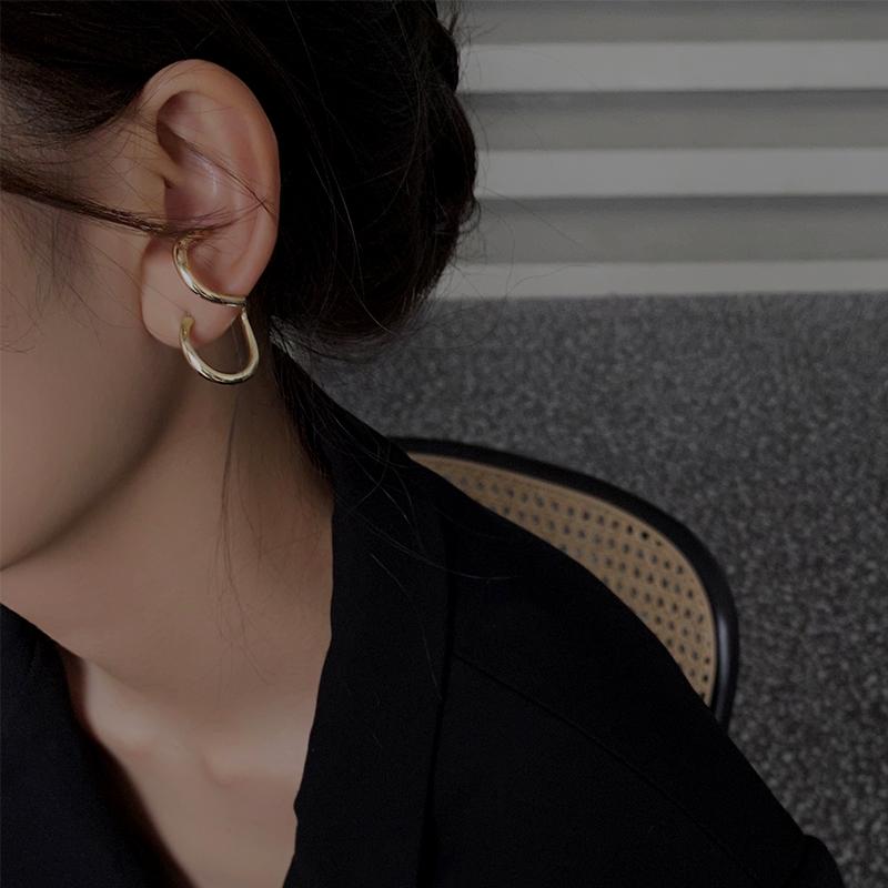 极简风个性创意螺旋耳环女夏季气质网红925银针耳钉时尚简约耳饰