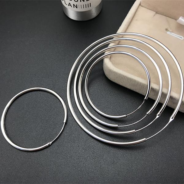 925银针防过敏冷淡风耳环夸张复古大圆圈圈气质圆形环chic耳饰女