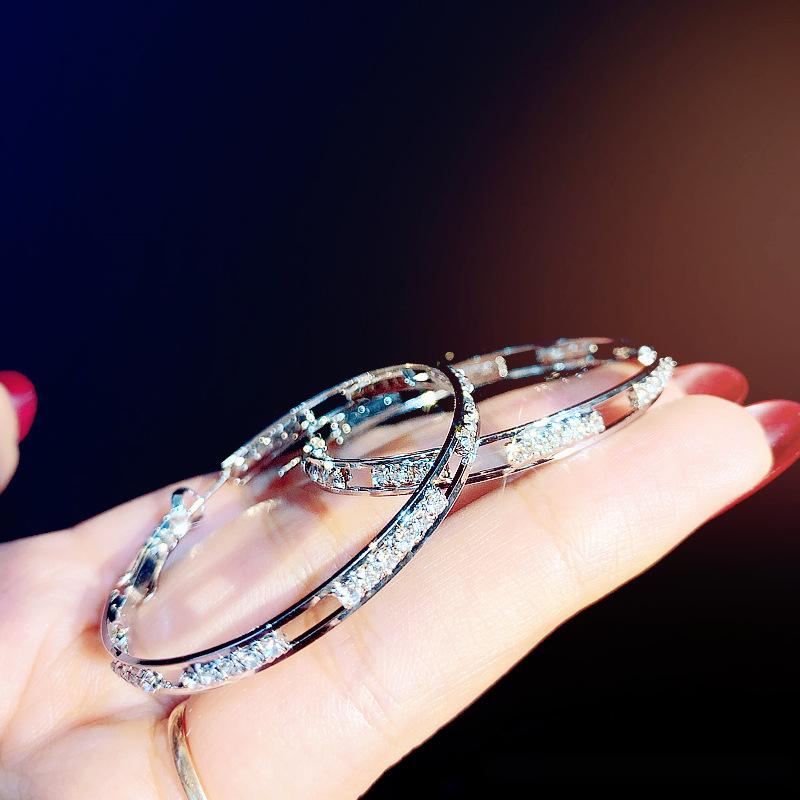 欧美时尚圆圈圆形耳圈耳环925银针耳饰女防过敏饰品