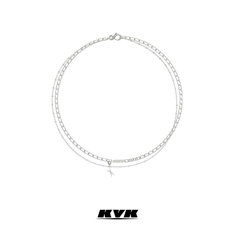 KVK2021新款项链冷淡风高级感轻奢小众设计自由组装式个性锁骨链