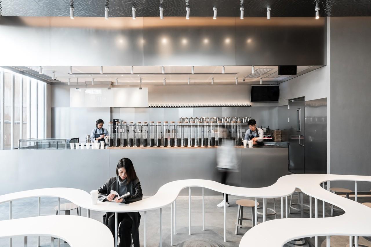 品牌定制 奶茶店咖啡厅烘培甜品店商铺门头装修设计效果图施工图