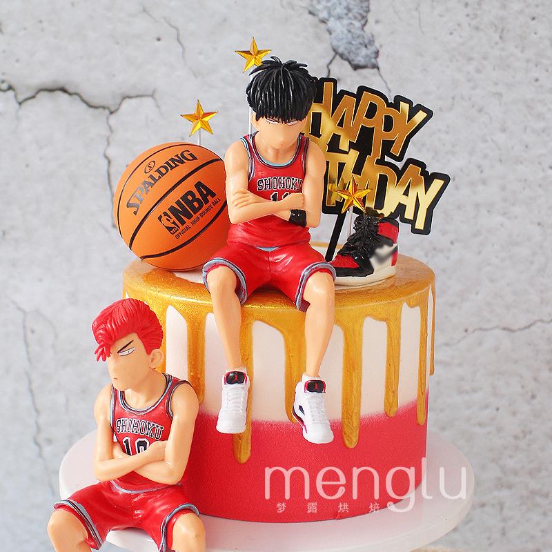 篮球鞋蛋糕装饰灌篮高手男孩男生男朋友篮球主题烘焙蛋糕摆件插件