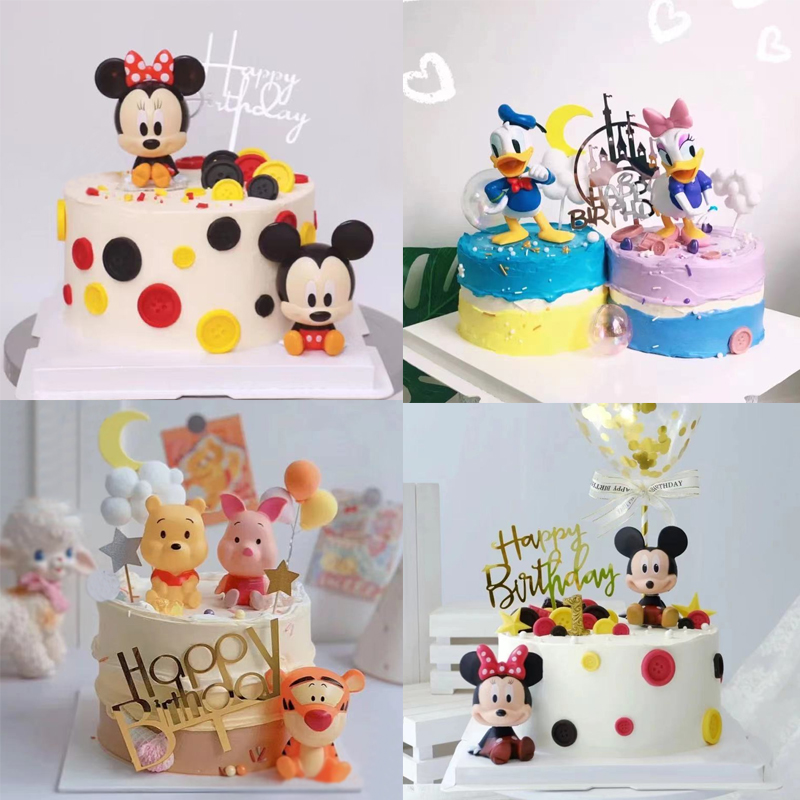 儿童节蛋糕装饰摆件情人节老鼠鸭子动物配件周岁生日派对主题插件