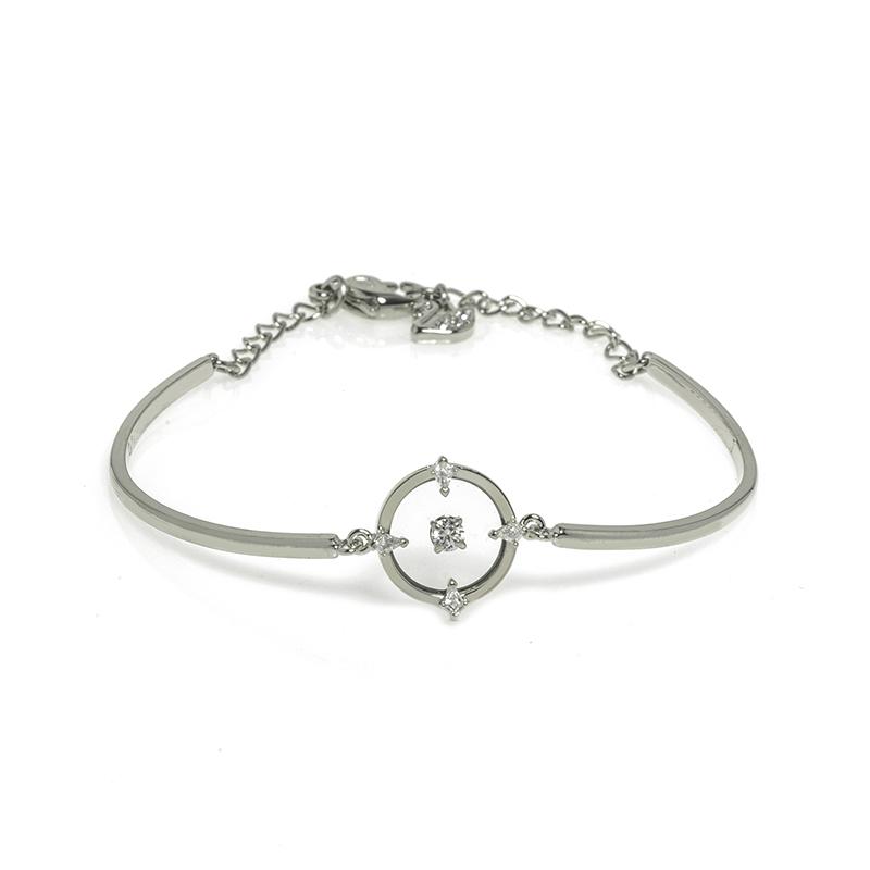 Swarovsk施华洛世奇 银色转运珠水晶手链女5552878