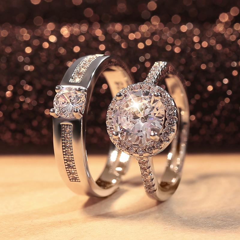 仿真钻戒情侣结婚对戒婚礼仪式用的假道具戒指可调节简约活口戒子