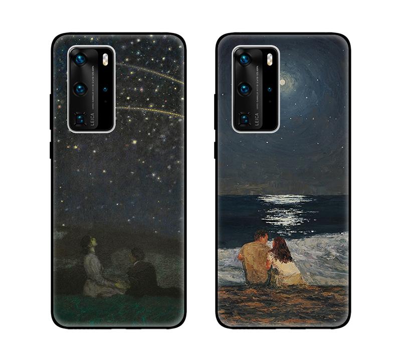 星辰大海图片油画