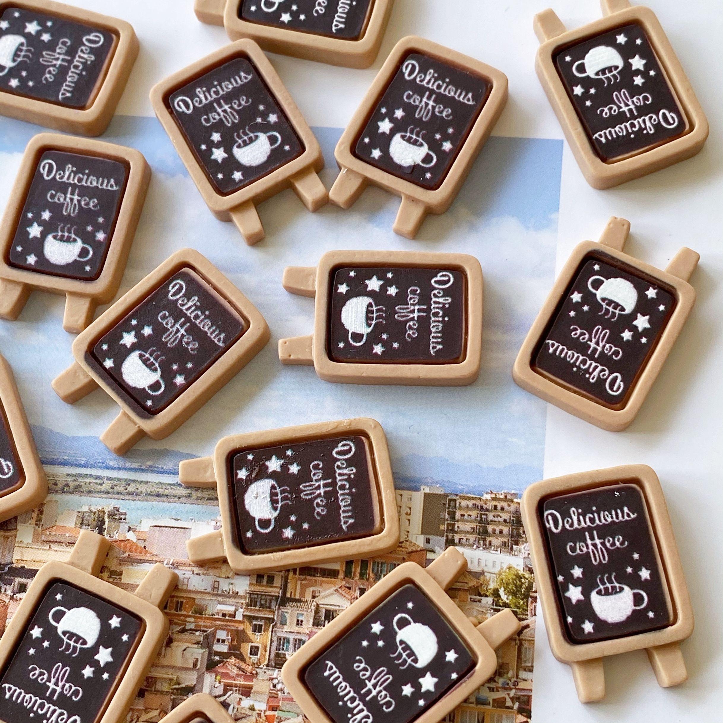 创意娃娃屋咖啡招牌甜品黑板摆件 手机壳奶油胶diy材料滴胶装饰