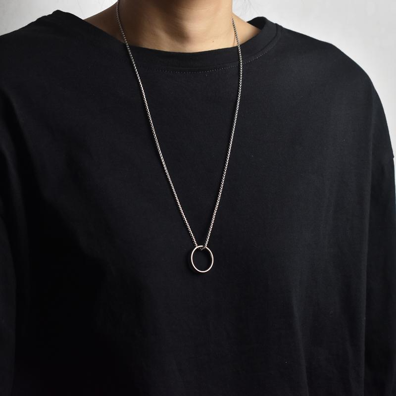 男女个性钛钢戒指圈吊坠项链方珠链项链女T恤卫衣毛衣项链绳子的
