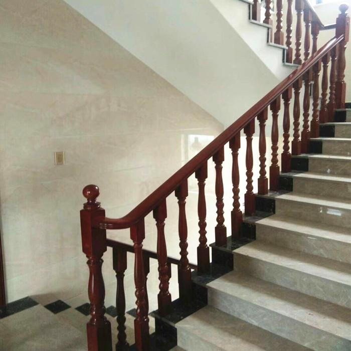 定制室内玻璃扶手欧式别墅楼梯木质简约现代实别墅带好防盗门复式吗图片