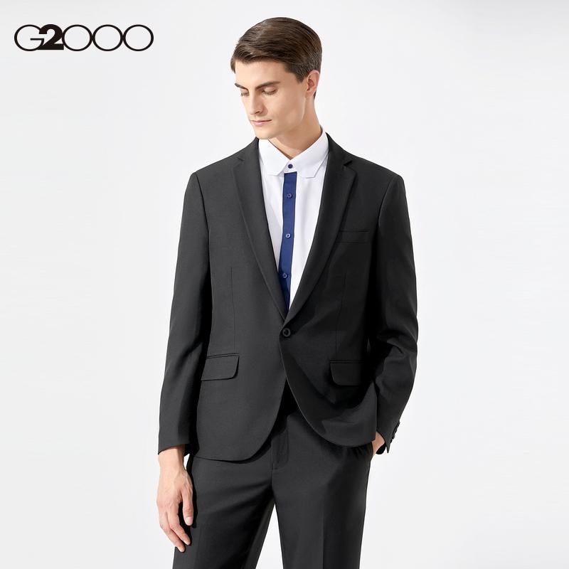 G2000男装2021夏季新款通勤职业西服商务正装可机洗西装男西服男