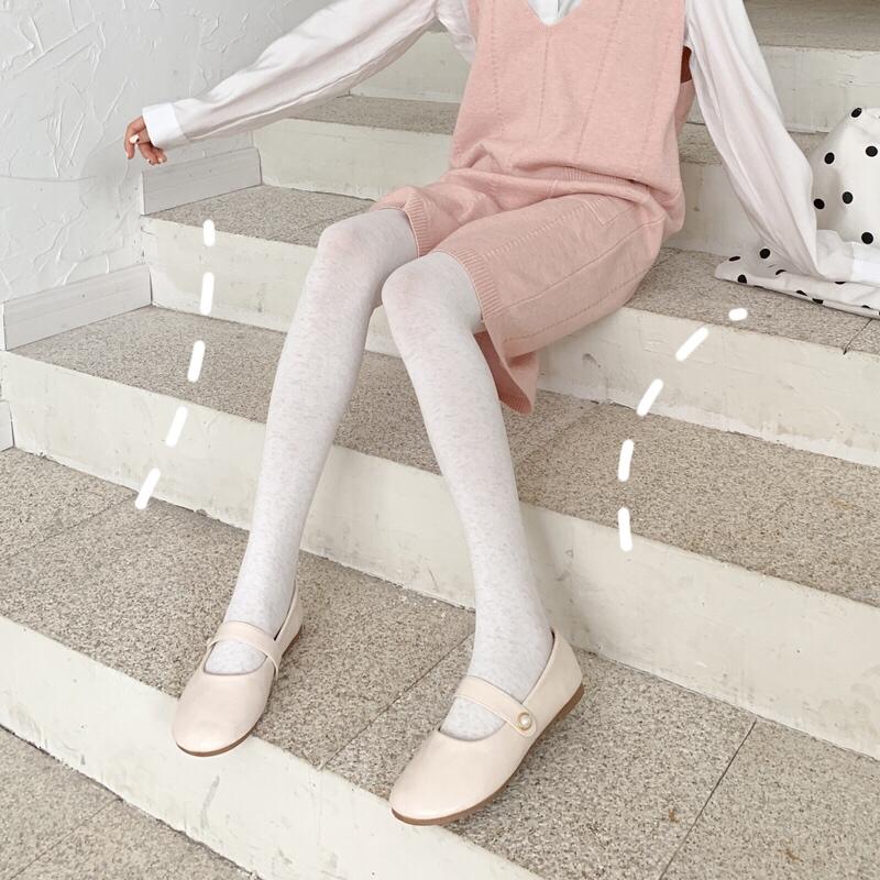 春秋季纯棉打底袜女薄款中厚秋冬款燕麦白色连裤袜丝袜显瘦腿外穿