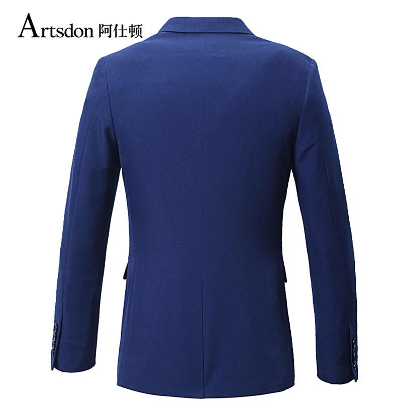 阿仕顿男装商务时尚休闲两粒扣西服简约舒适修身男士上衣外套