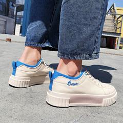 春季透气厚底增高帆布鞋男低帮潮流韩版板鞋男士百搭超火的小白鞋价格比较