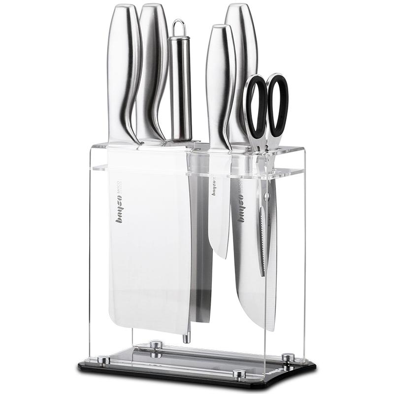 拜格刀具套装厨房德国工艺不锈钢家用水果刀厨具全套菜刀套装组合