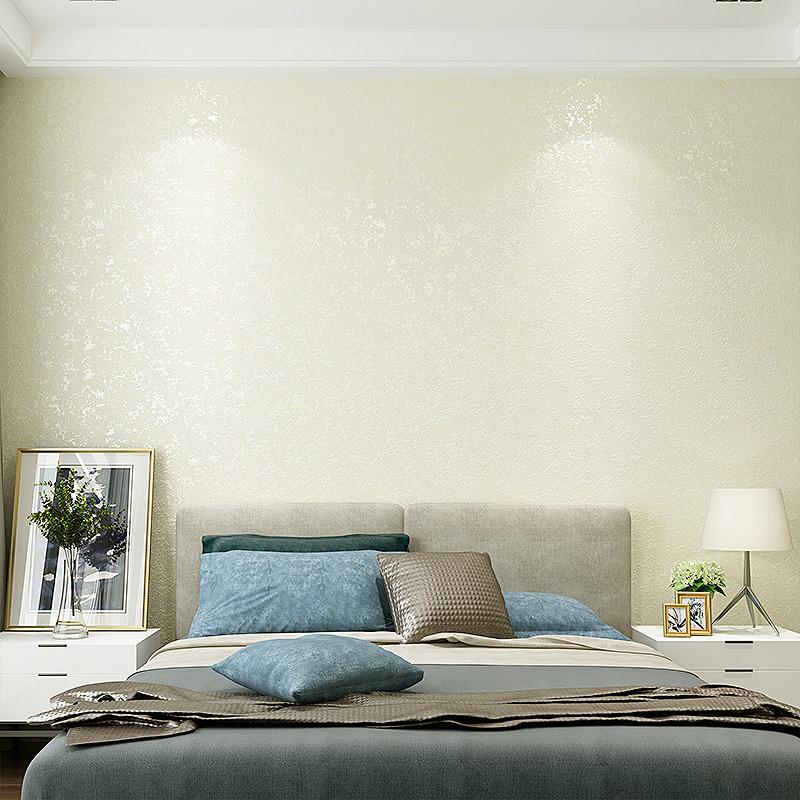 無紡布牆紙客廳卧室純色素色電視背景牆壁紙 3D 現代簡約精壓斑駁