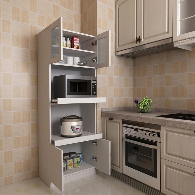 定制北欧餐边柜现代简约餐厅厨房高柜餐边柜置物柜收纳柜微波炉柜图片