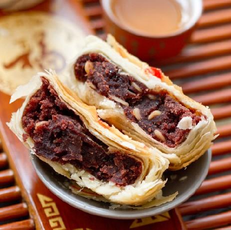 功德林豆沙月饼素食中秋节玫瑰细沙苏式月饼上海散装老式酥皮月饼图片