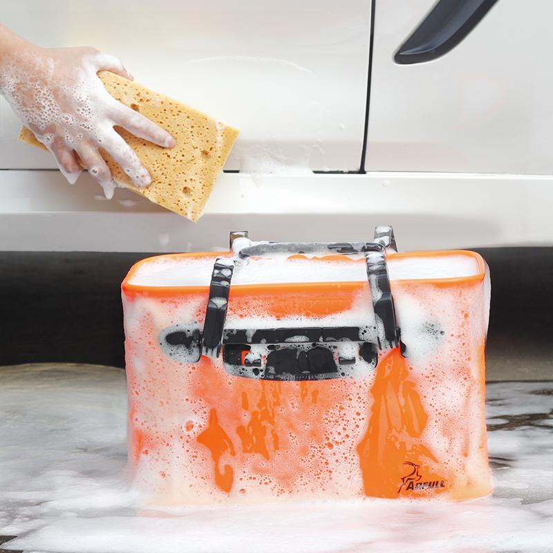 汽车用洗车桶便携式折叠水桶车用车载伸缩桶可折叠水桶压缩刷车桶