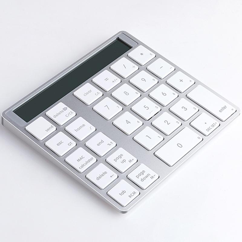 蓝牙无线键盘无线数字小键盘苹果MAC笔记本电脑专用密码键盘财务会计银行办公计算器多功能小键盘DOCMA KB-6