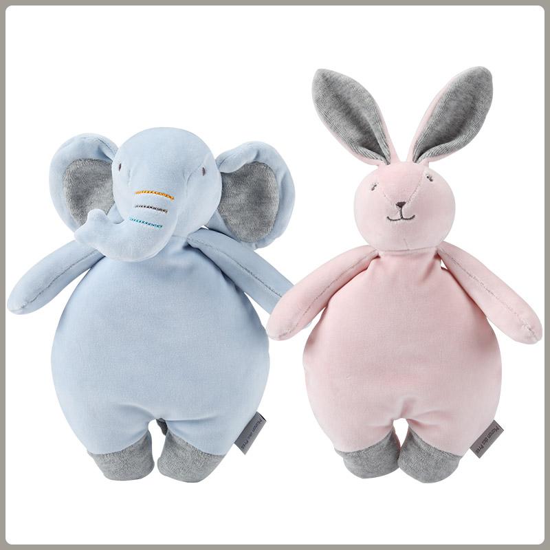 法国安抚巾婴儿可入口睡眠 娃娃手偶宝宝安抚玩偶可啃咬抱睡玩具