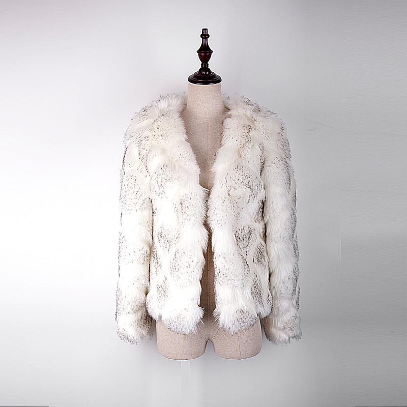 温迪汪 冬季貉子毛编织皮草外套女中长款秋冬新款皮毛一体显瘦