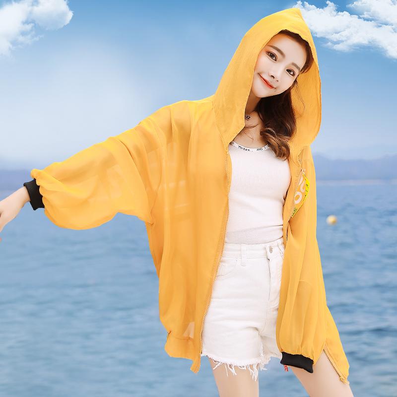 防晒衣女中长款2018夏季新款韩版薄款小清新宽松学生防晒开衫外套