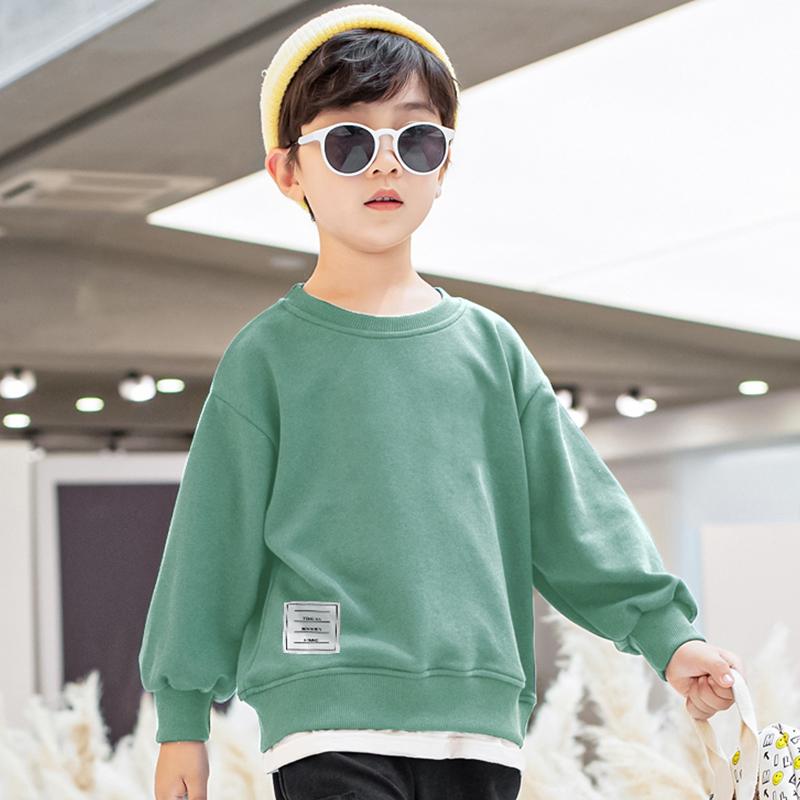 男童卫衣加绒秋冬款2020新款男孩春秋装中大童儿童上衣洋气童装潮